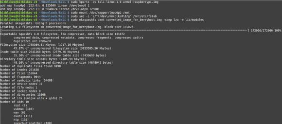 BerryBoot: Abbild von Kali Linux umwandeln
