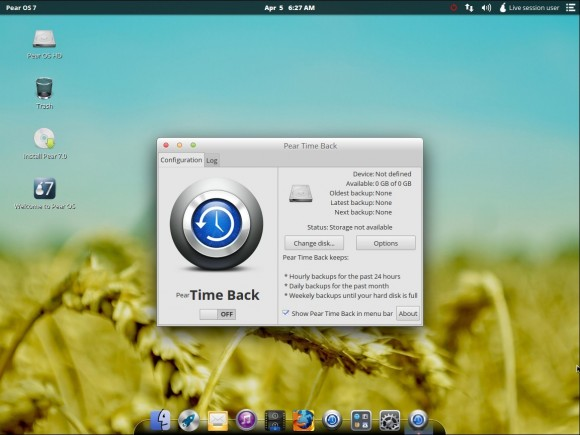 Pear OS 7: Time Back