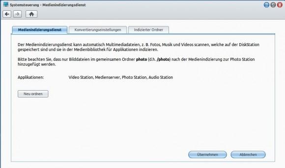 Synology: Medienindizierungsdienst