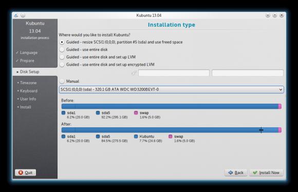 Kubuntu 13.04: Ubiquity (Quelle: kde.org)