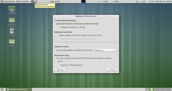 MATE 1.6: Fenster-Einstellungen (Quelle: mate-desktop.org)