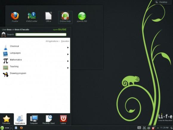 "openSUSE 12.3 ""Edu Li-f-e"": KDE (Quelle: en.opensuse.org)"