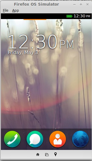 Firefox OS Simulator 3.0: Homescreen