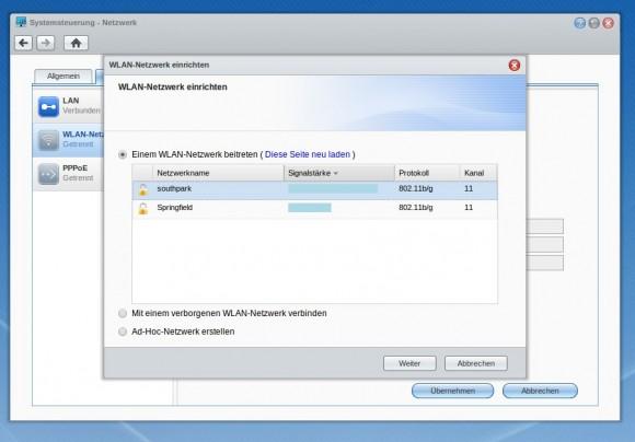 Synology: Kann auch mit WLAN-USB-Dongles ...