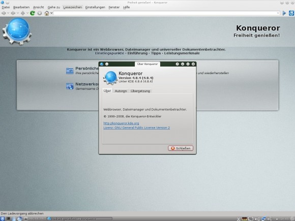 aptosid 2013-01: Konqueror