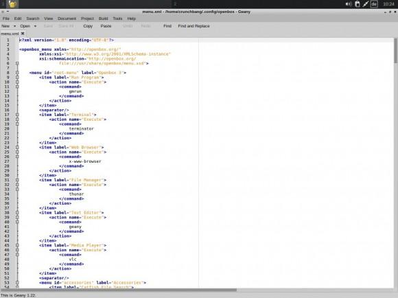 "CrunchBang Linux 11 ""Waldorf"": Openbox-Menü editieren"