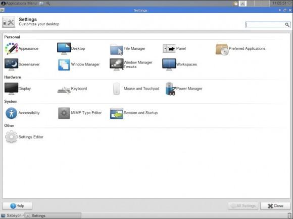 Sabayon 13.04 Xfce: Systemeinstellungen