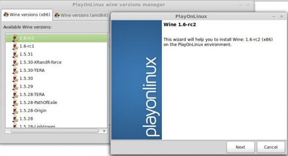 Wine 1.6-rc2: Auch via PlayOnLinux