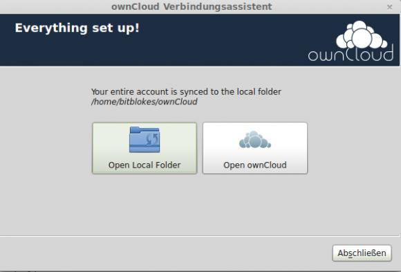 ownCloud-Desktop-Client: Was öffnen?