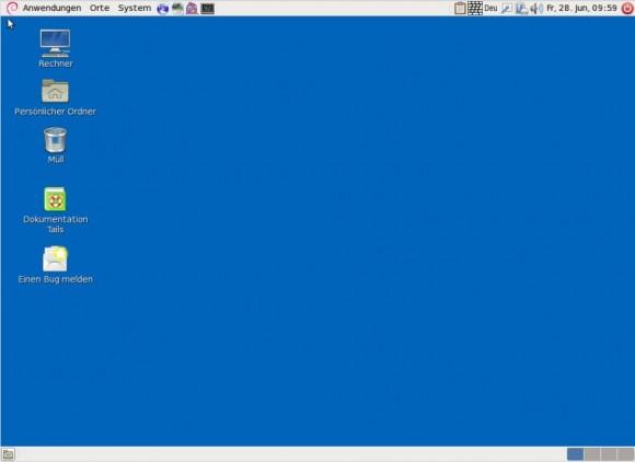 Tails 0.19: Desktop