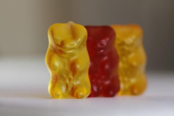 Gummibärchen: Das gelbe im Fokus