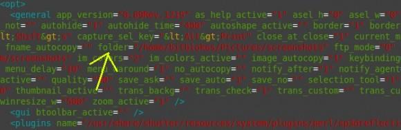 Shutter: Speicherort in der Konfigurations-Datei ändern