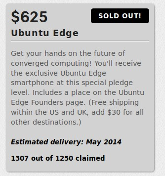 Ubuntu Edge: 625 US-Dollar ausverkauft