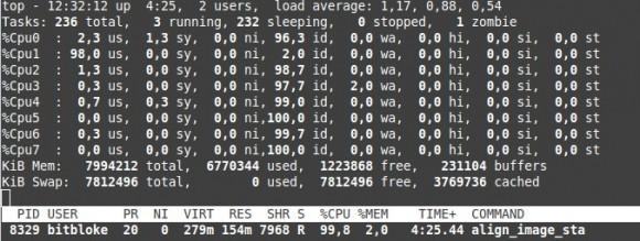 align_image_stack auf CPU1