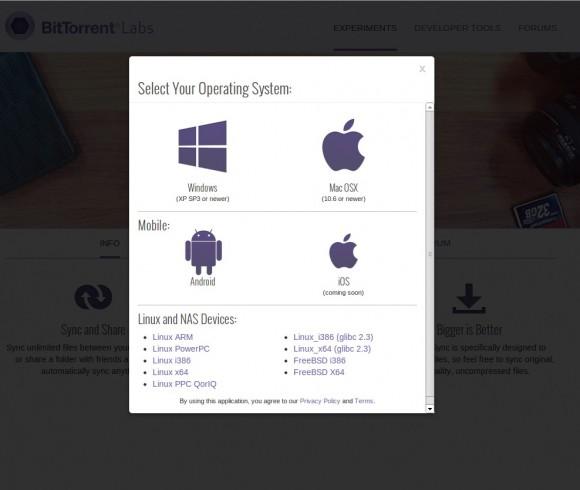 BitTorrent Sync: Für alle möglichen Systeme verfügbar
