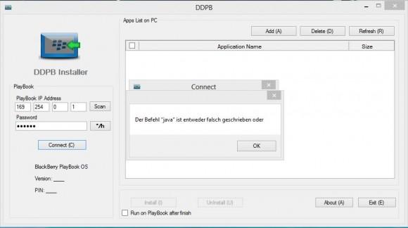 DDPB: Java-Fehler