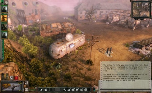 Wasteland 2: HUD mit vergrößterter Textbox (Quelle: inxile-entertainment.com)