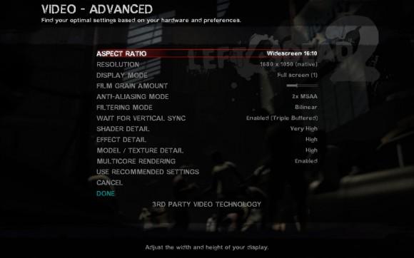 Left 4 Dead 2: Meine Einstellungen mit optirun - alles flüssig