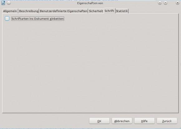 LibreOffice 4.1: Schriftarten einbetten