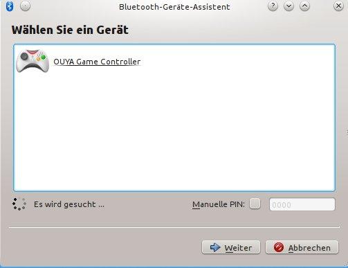 OUYA GAME CController unter Kubuntu 13.04