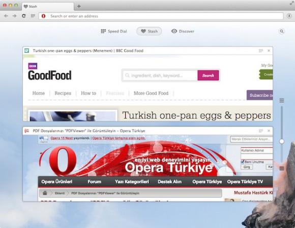 Opera 15: Stash (Quelle: opera.com)