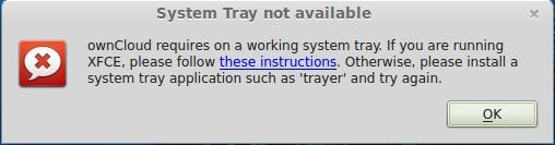 Systemtray nicht verfügbar?