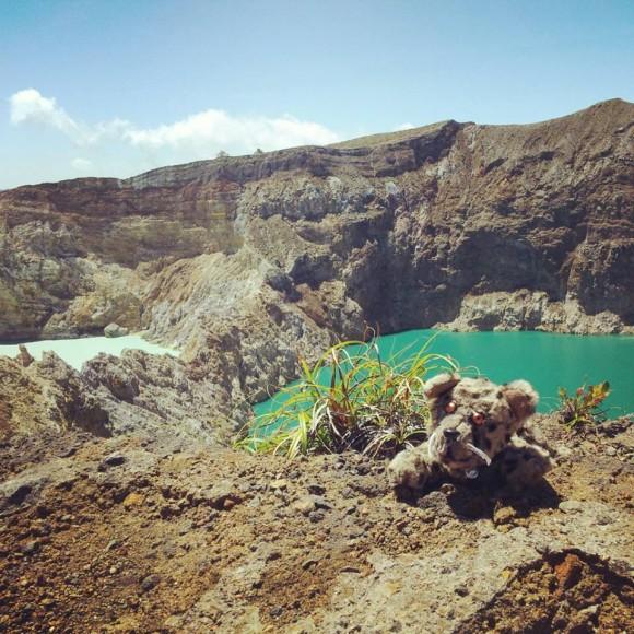 Delbar auf dem Kelimutu-Vulkan
