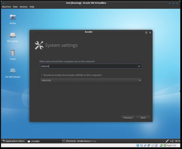 SolusOS 2 Alpha 9 mit neuem Installer (Quelle: solusos.com)