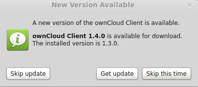 ownCloud-Client: Neue Version verfügbar
