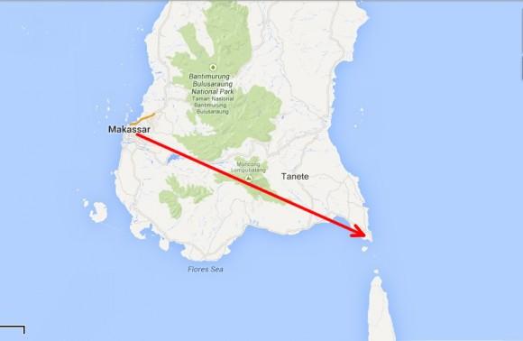 Makassar -> Bira (Je nach Verkehr fünf bis sechs Stunden)