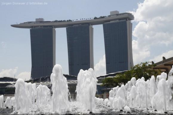 Marina Bay Hotel: Lichtverhältnisse nicht optimal :(
