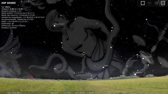 Stellarium: Alles über Sternzeichen