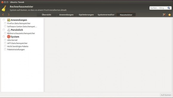 Ubuntu Tweak: Hausmeister