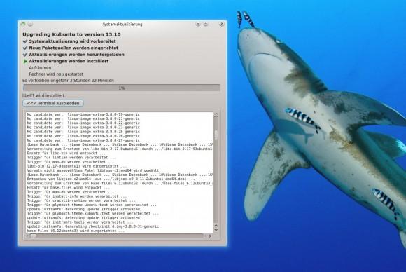 Upgrade: Bald tickert Kubuntu 13.10 auf dem Rechner