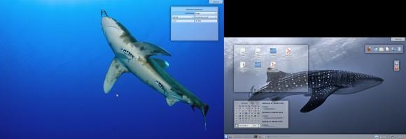 Kubuntu 13.10: Mein Desktop (zwei Bildschirme)