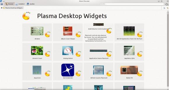 Muon Discover: Plasma Desktop Widgets