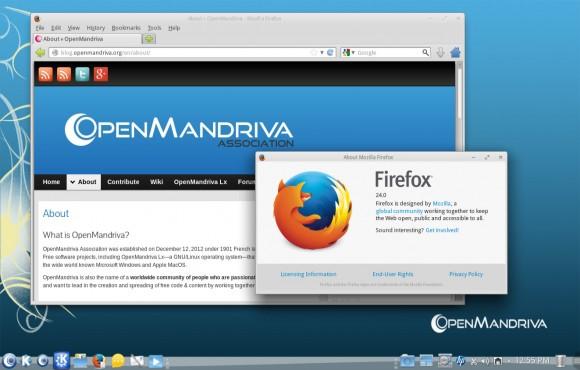 OpenMandriva Beta: Firefox (Quelle: openmandriva.org)
