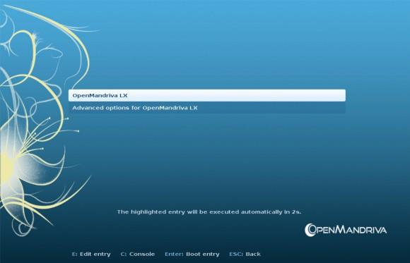 OpenMandriva Beta: Boot (Quelle: openmandriva.org)