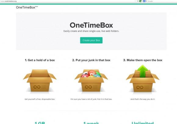 OneTimeBox: Aufmachen, Reinschmeißen, Wegschmeißen