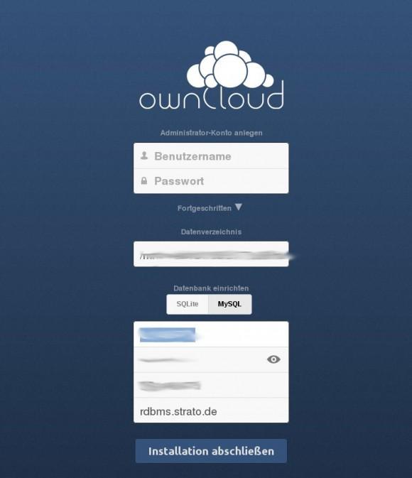 ownCloud 6: Administrator einrichten