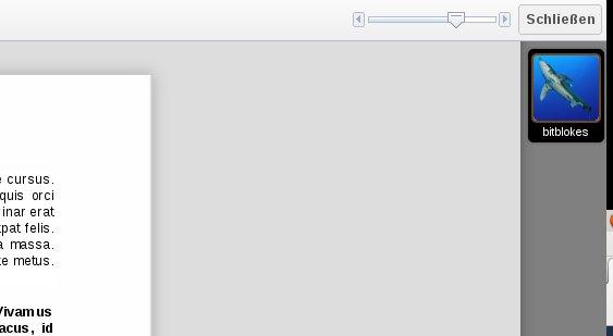 ownCloud Documents: Vergrößern und Verkleinern