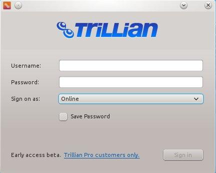 Trillian für Linux (Beta): Kann mich ohne Pro-Konto nicht anmelden