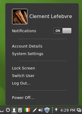 Cinnamon 2.0: Anwender-Applet (Quelle: linuxmint.com)