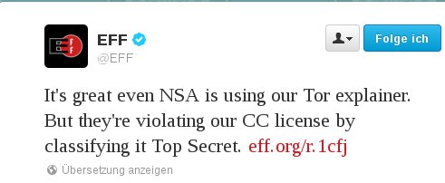 NSA verletzt CC