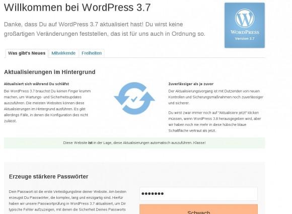 WordPress 3.7: Kann automatische Updates