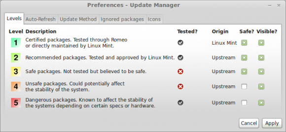 Update-Manager in Linux Mint (Quelle: linuxmint.com)