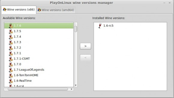 Wine 1.7.6: Auch in PlayOnLinux verfügbar