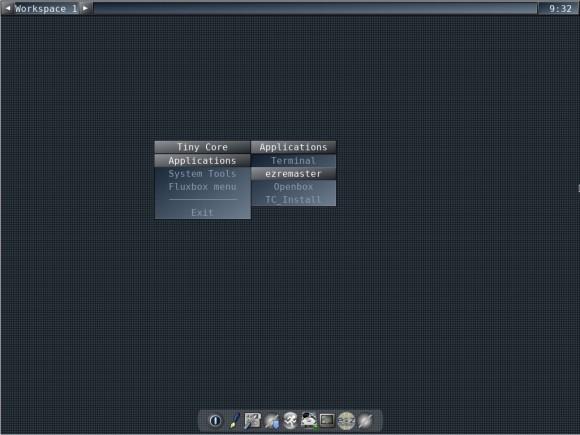 Tiny Core Linux: CorePlus - Fluxbox