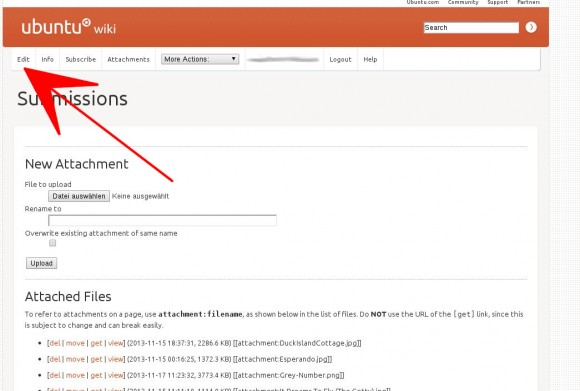 Xubuntu Wallpaper-Contest: Auf Edit klicken