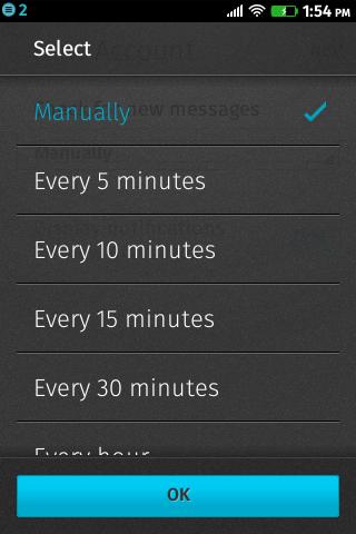 Firefox OS Mail: Wie oft?